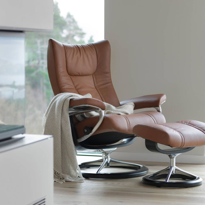 1e03d646fd ... full 360° swivel feature, this collection employs the Stressless  patented Glide system that make Stressless recliners the most comfortable  in the world.
