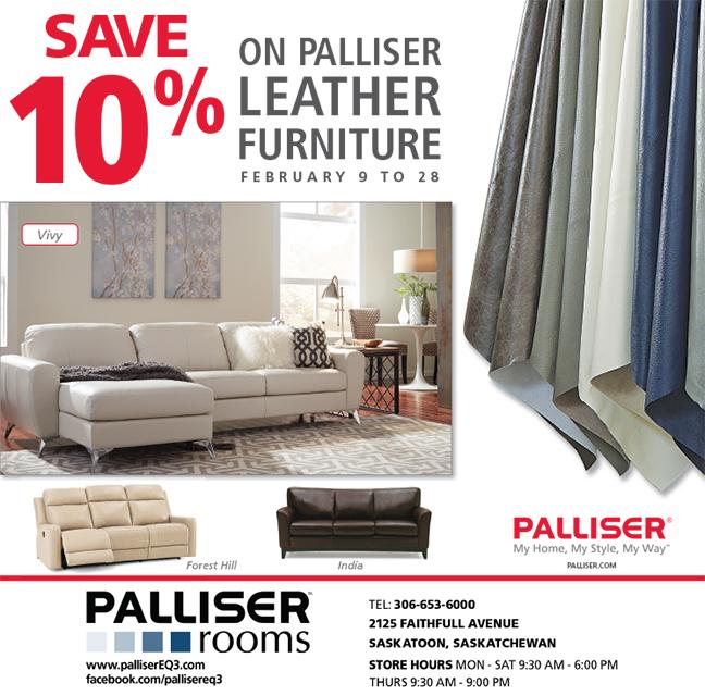 Save 10 On Palliser Custom Leather Furniture Until February 28 2017