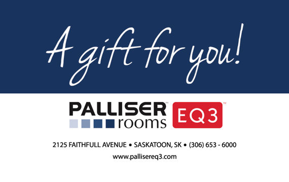 Palliser Rooms EQ3 Gift Cards